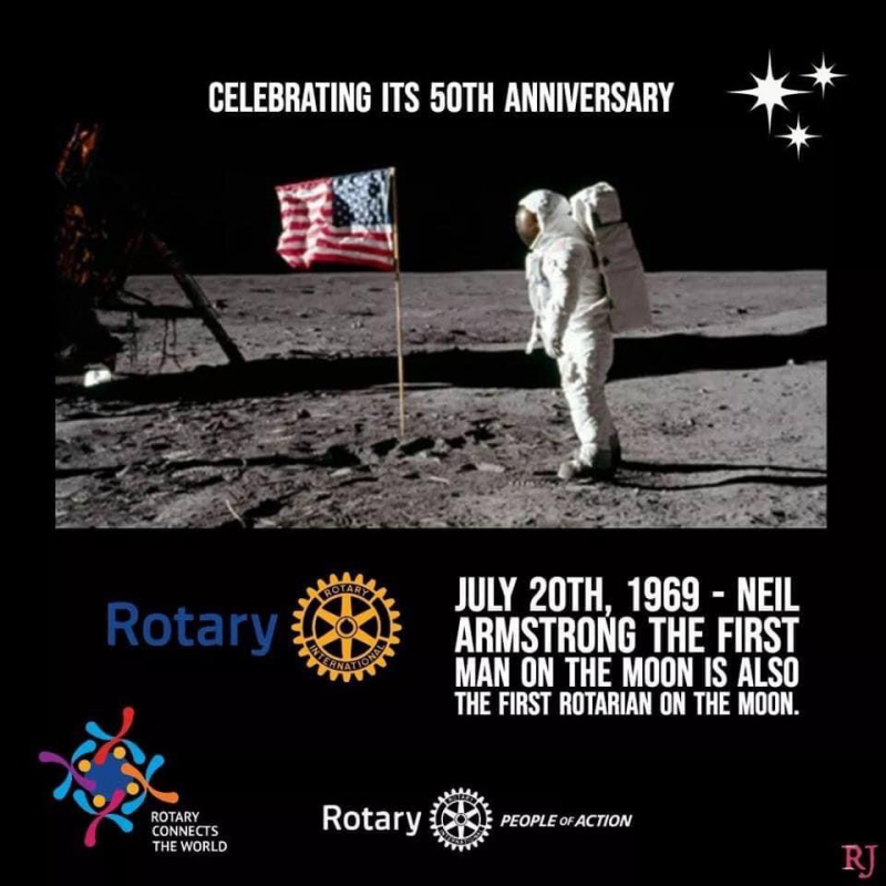 Neil Armstrong, Rotarian